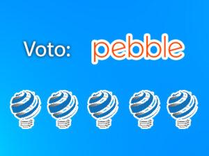 votazione pebble