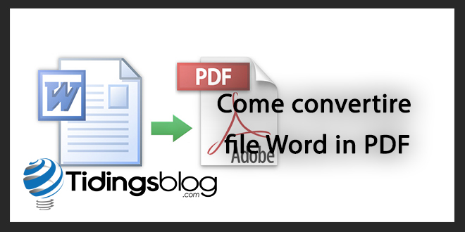 Come Trasformare file Word in file PDF con Mac OSX