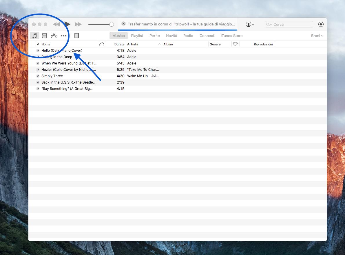 Come portare le canzoni su iPhone 2
