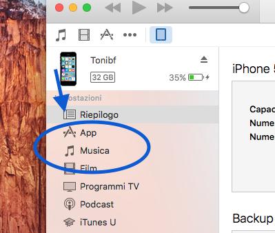 Come portare le canzoni su iPhone4