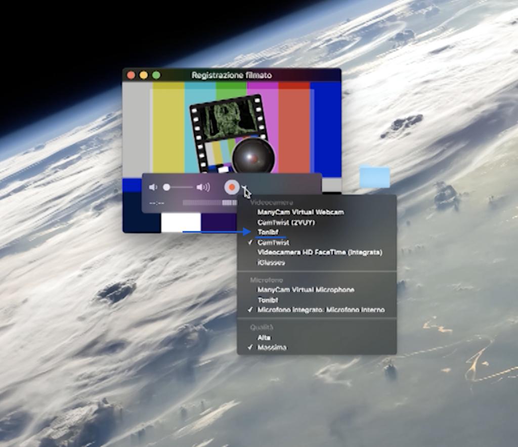 come registrare schermo iPhone su iMac 4