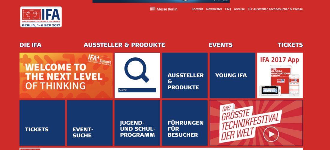 Berlin IFA 2017 – Start
