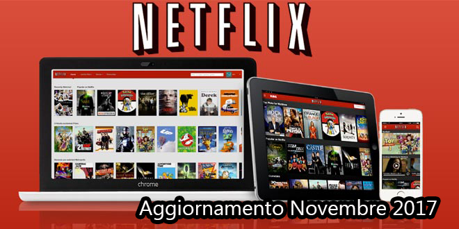 Pianificazione di Netflix Novembre 2017