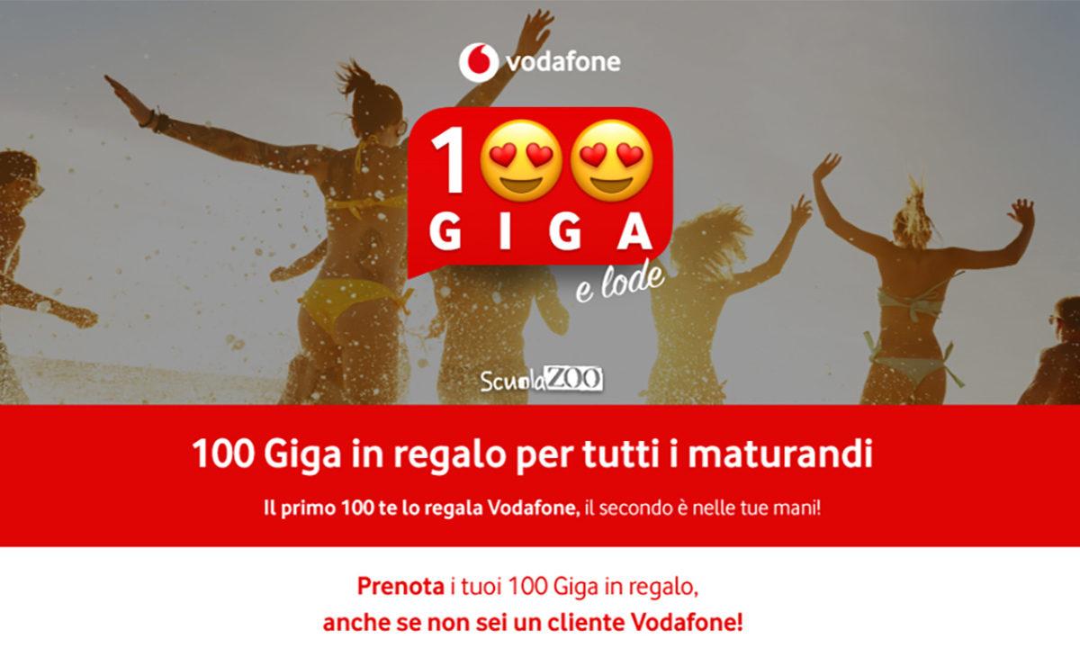 Vodafone Regala 100 GB ai Maturandi