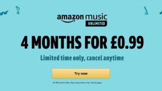 Amazon Music 4 mesi a soli 0,99 €