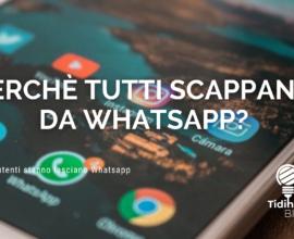 Perchè scappare da whatsapp?